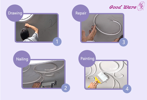 How to install the flexible molding