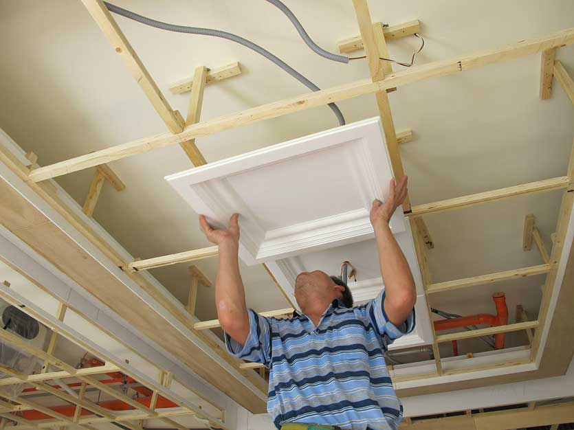 How to install ceiling tiles?
