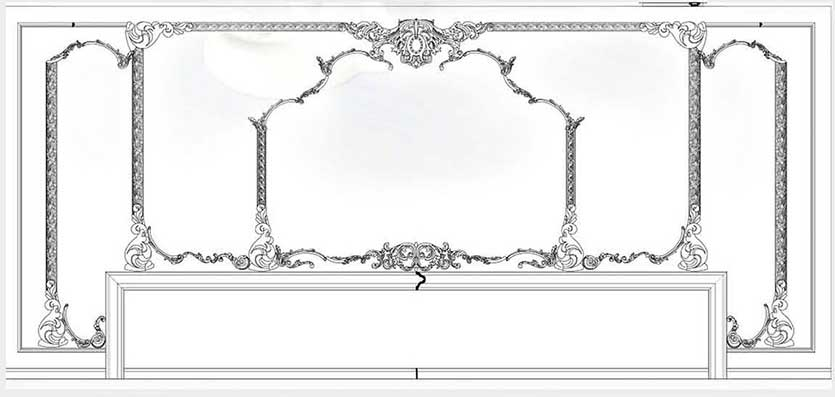 Customized Ornamental mouldings Design