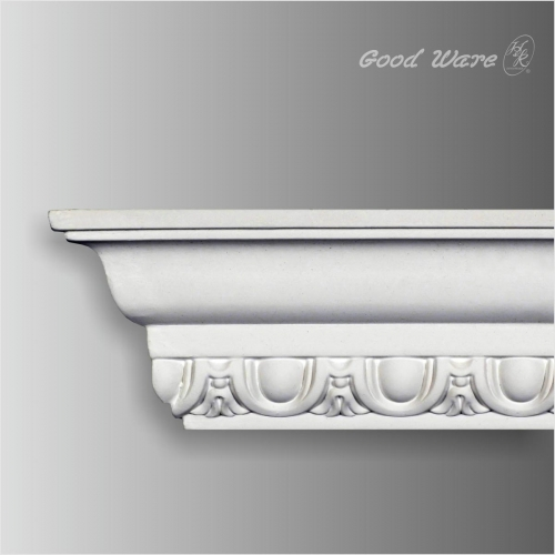 Egg and dart pattern crown moulding for sale