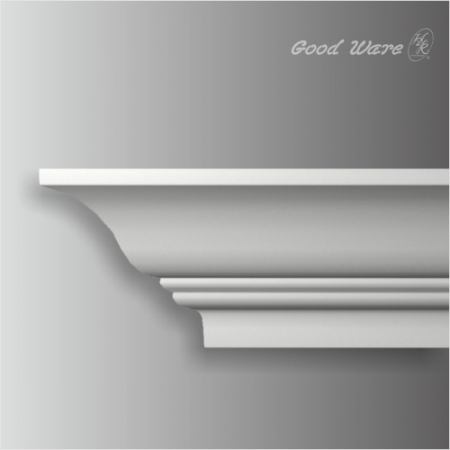 polyurethane smooth curtain crown molding