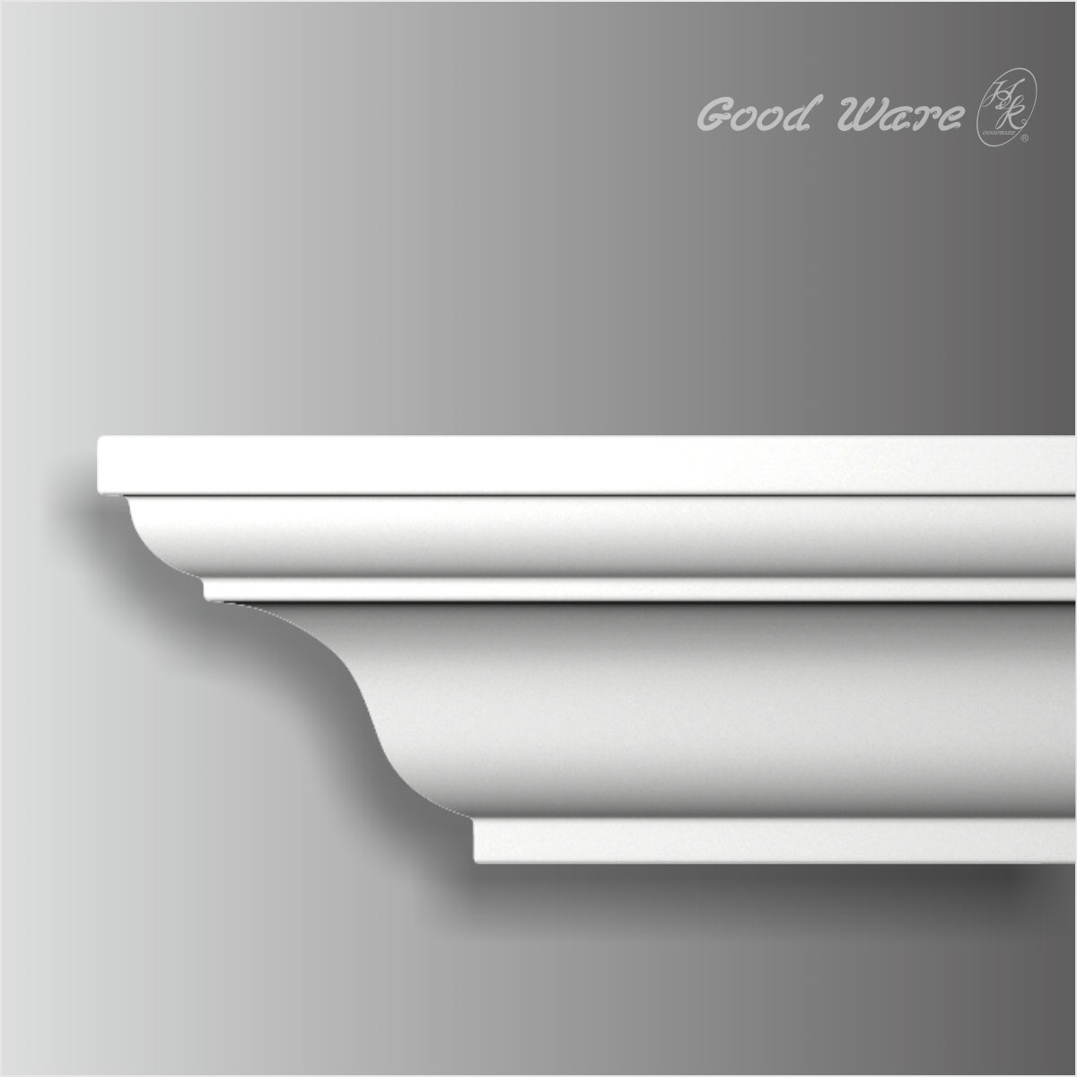Polyurethane white small crown moulding