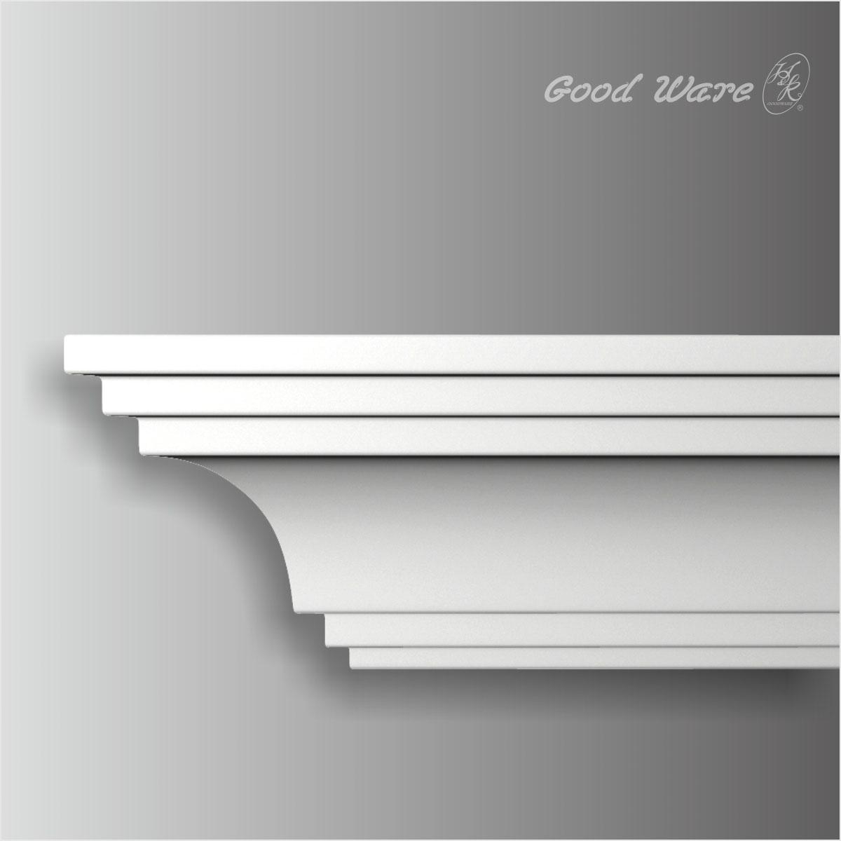 Polyurethane traditional plain crown molding