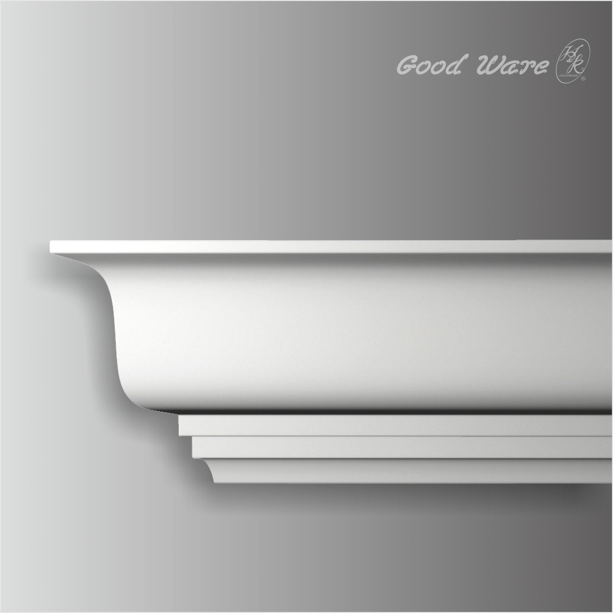 Polyurethane traditional crown molding for bathroom