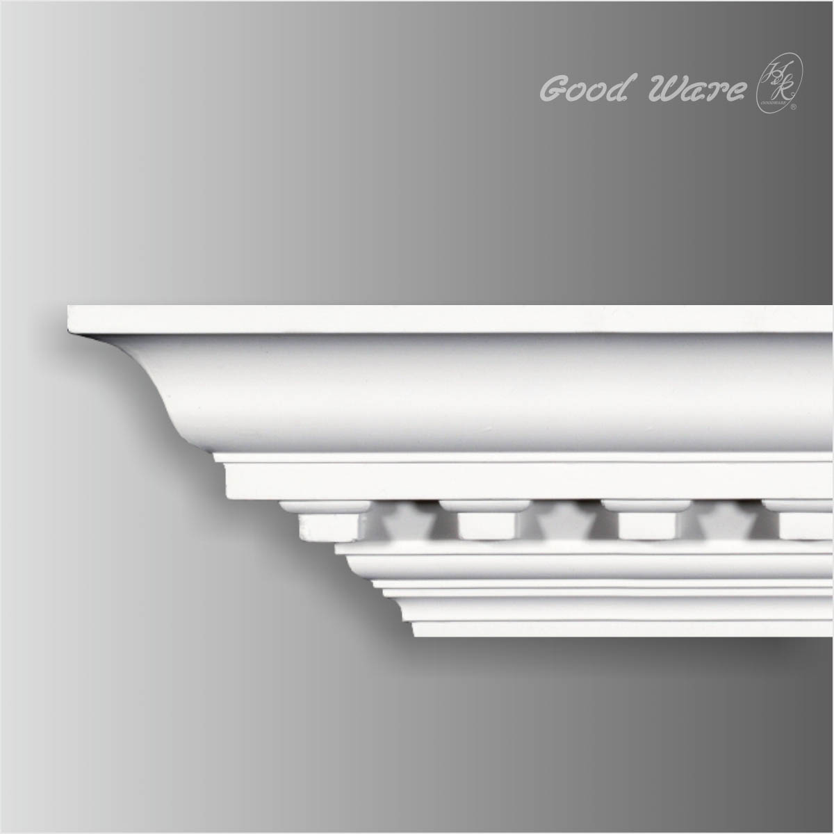 Polyurethane dentil 5 inch crown moulding