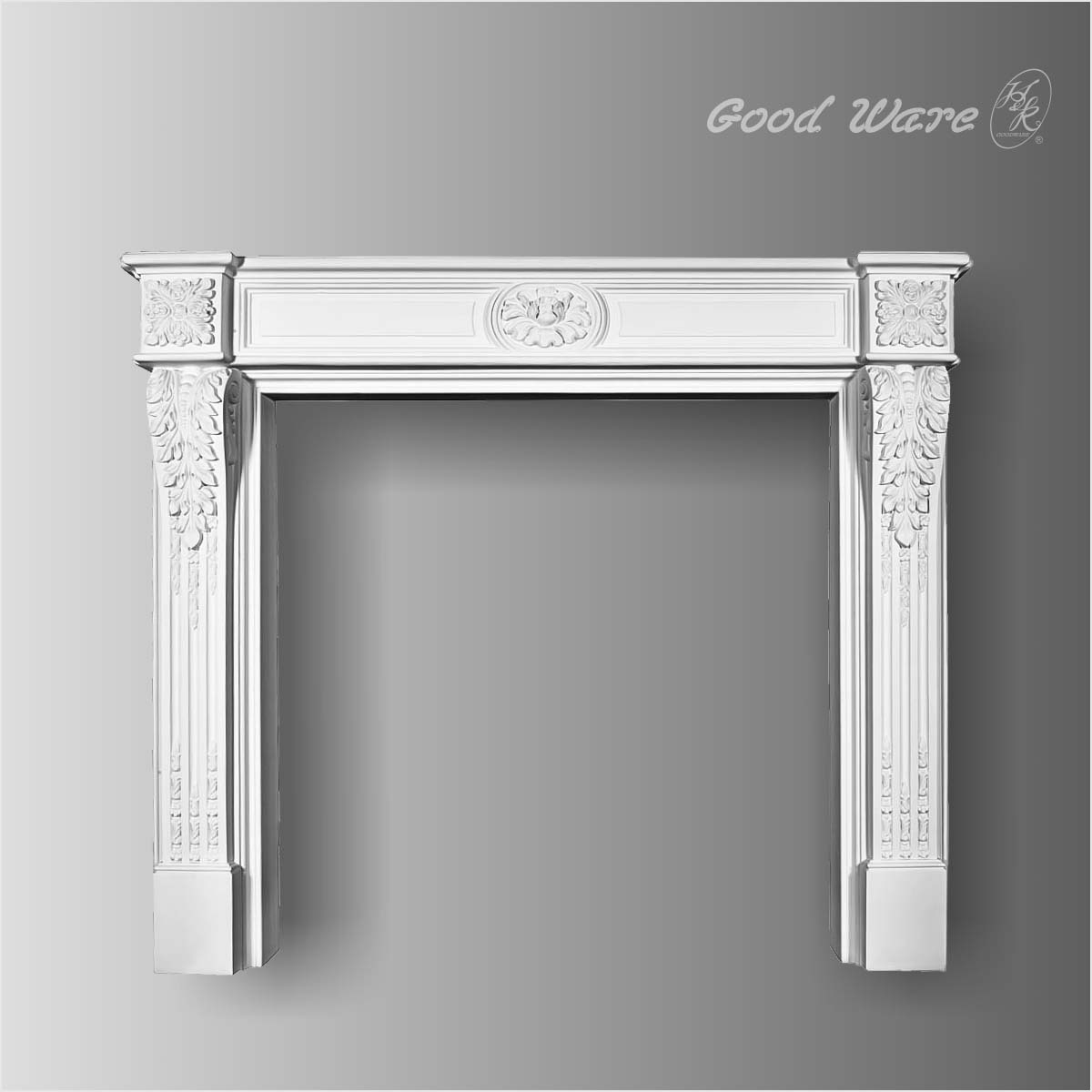 Polyurethane fireplace surrounds and mantels