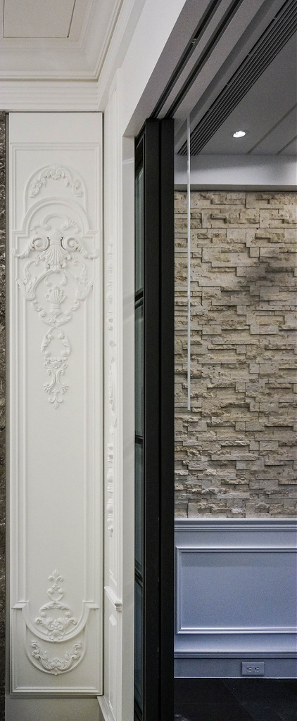 Faux wood appliques and onlays-ornate mouldings for door