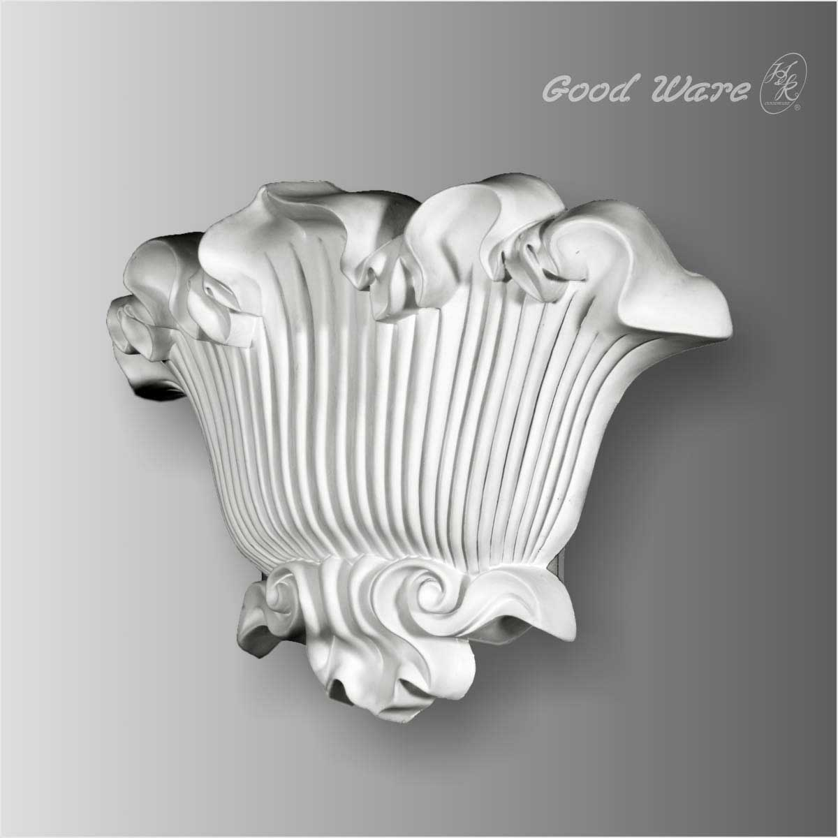 Polyurethane Elegant Floral Wall Sconces   Architectural ... on Wall Sconces That Hold Flowers id=21997