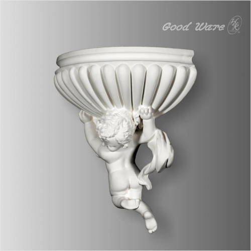 Polyurethane antique decorative angel wall sconces