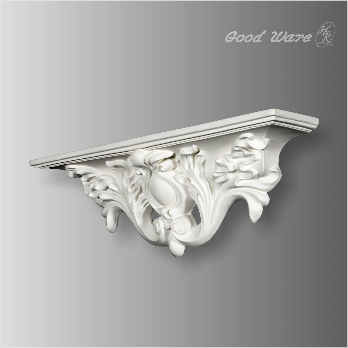 Antique decorative wall brackets for shelves