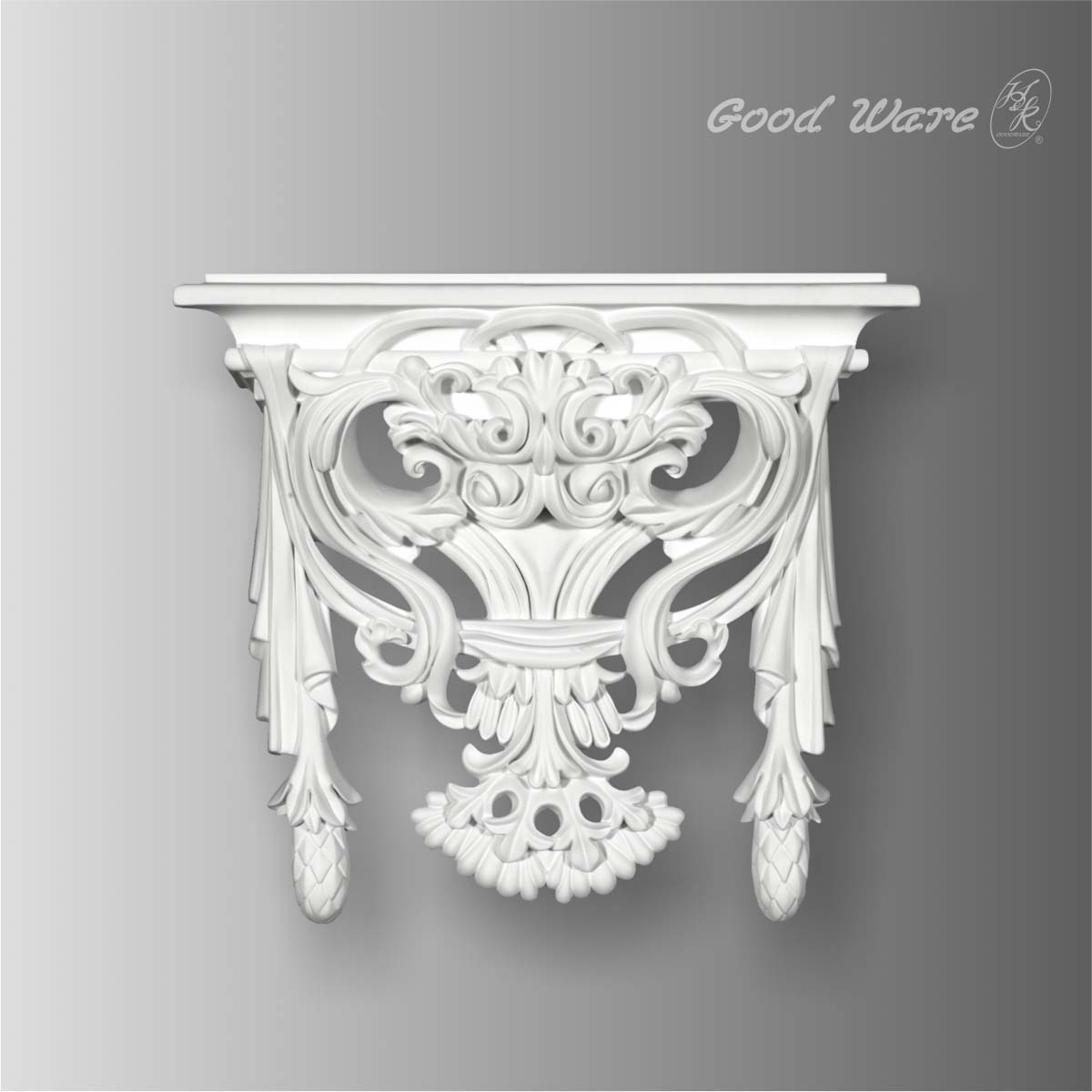 Polyurethane decorative wall decor shelves
