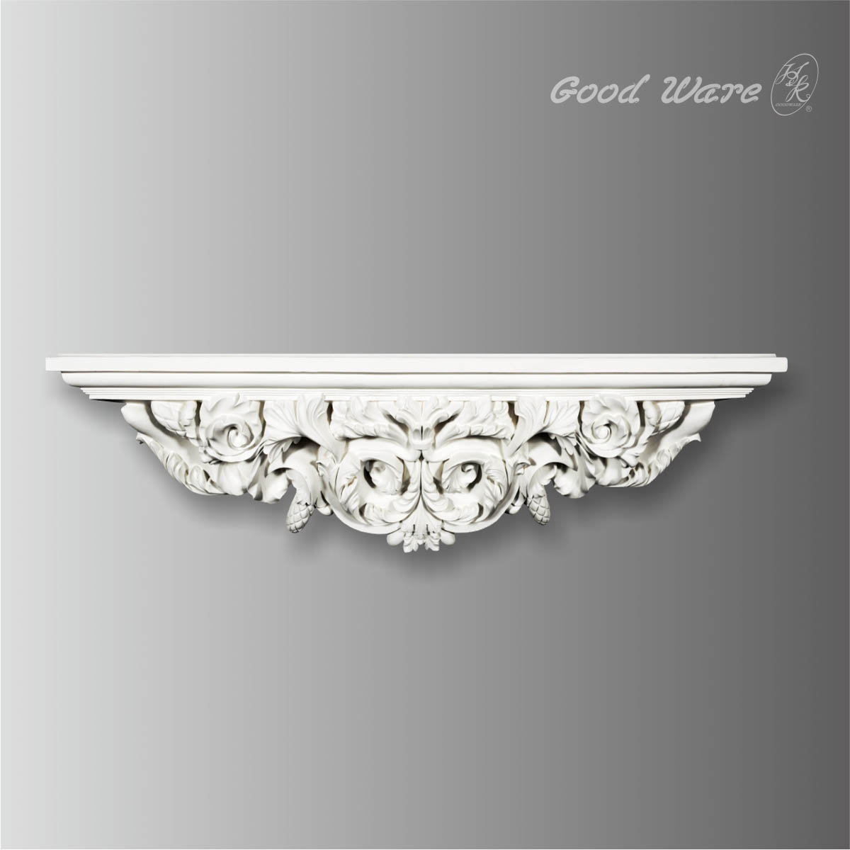 products gb 99655 baroque decorative wall shelves for bathroom