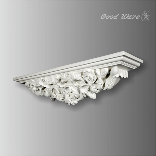 Baroque decorative wall shelves for bathroom