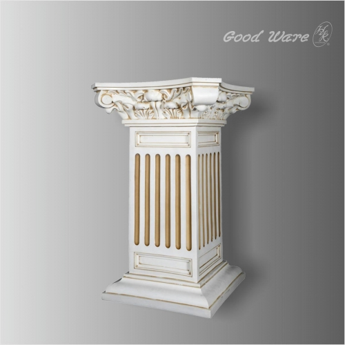 Decorative plant stand square column pedestal