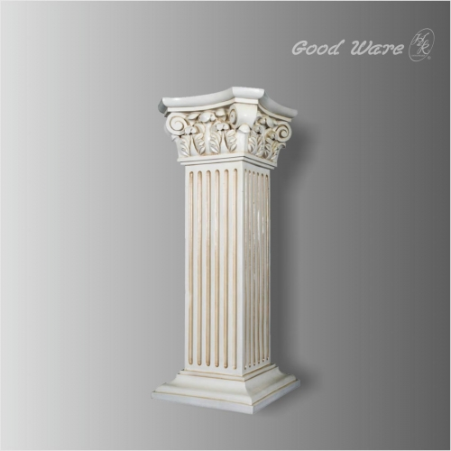 Antique square greek column pedestal for wedding