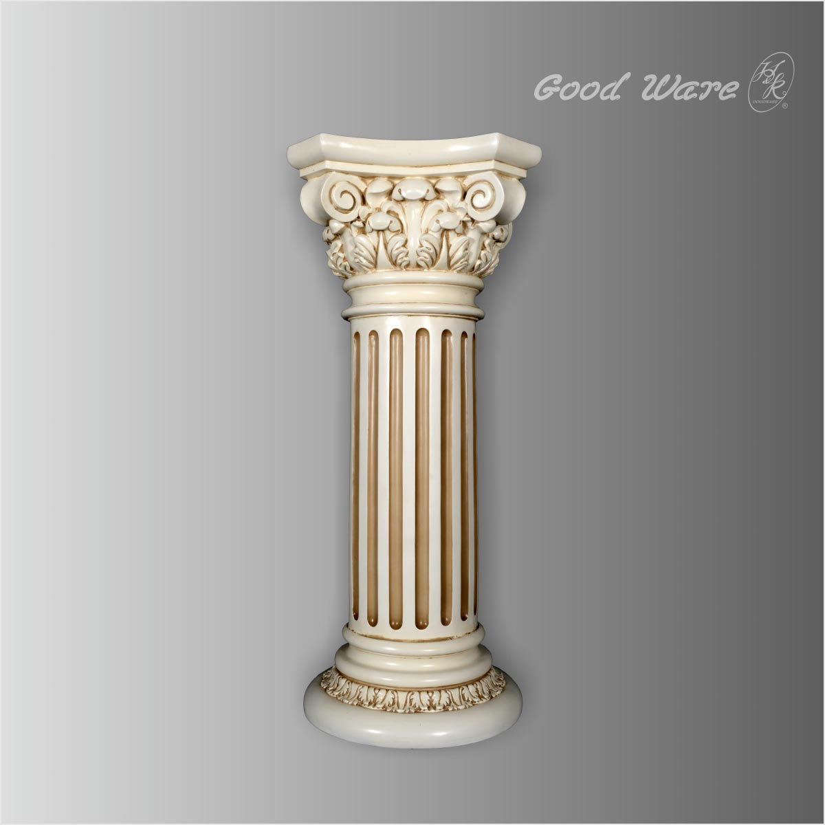 Polyurethane white flower pedestal stand for sale