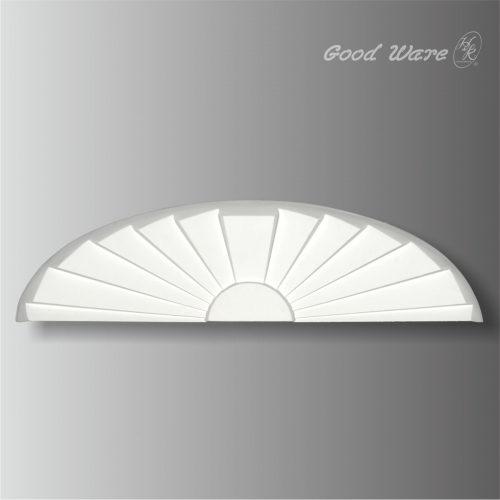 Polyurethane sunburst door panel molding