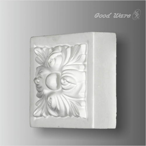 Decorative flora door trim corner blocks