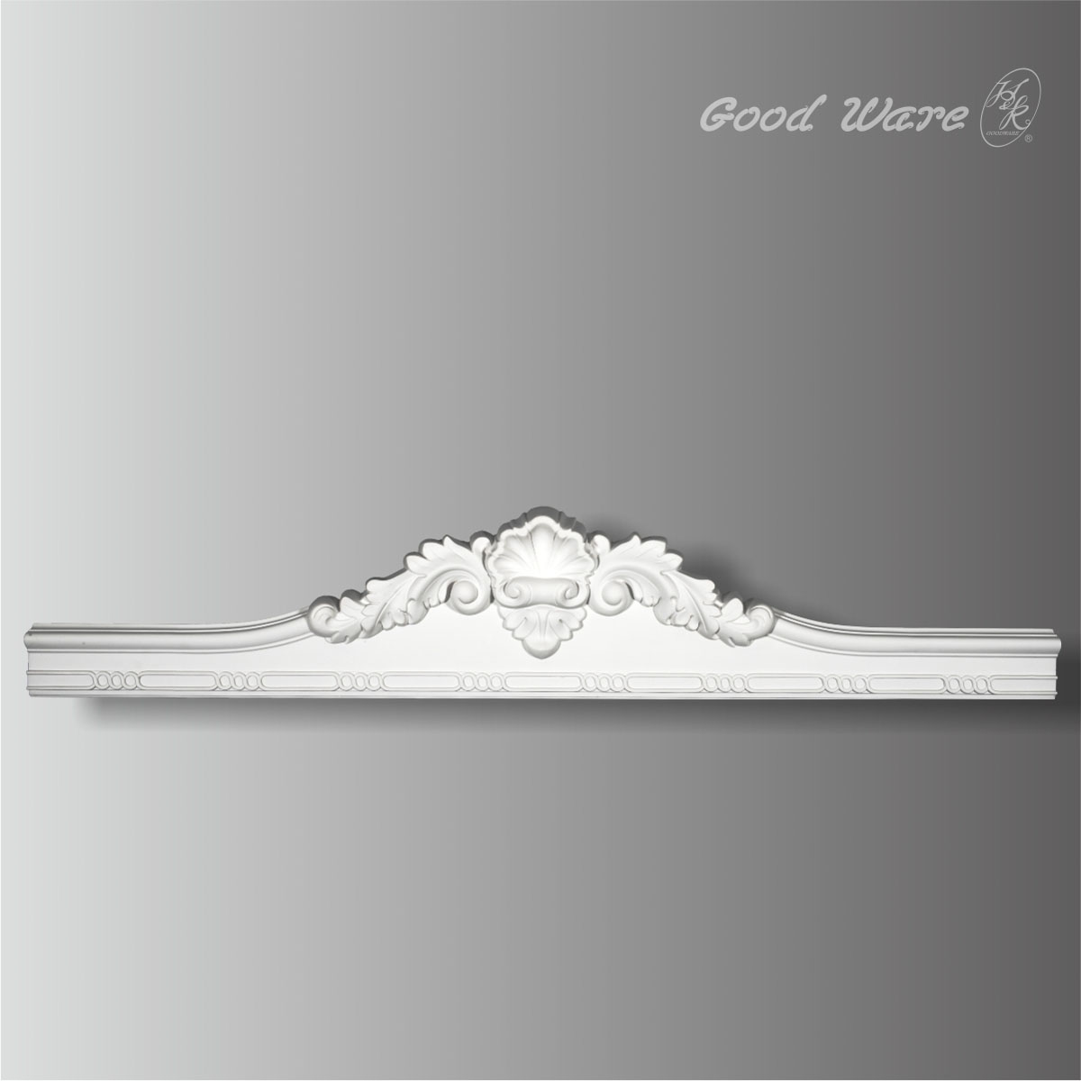 Shell and acanthus door frame moulding