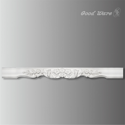 Polyurethane decorative curtain molding