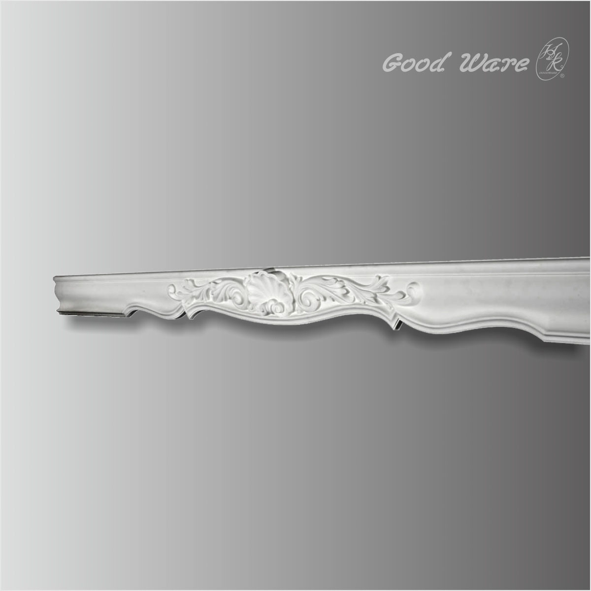 Shall and acanthus decorative window casing