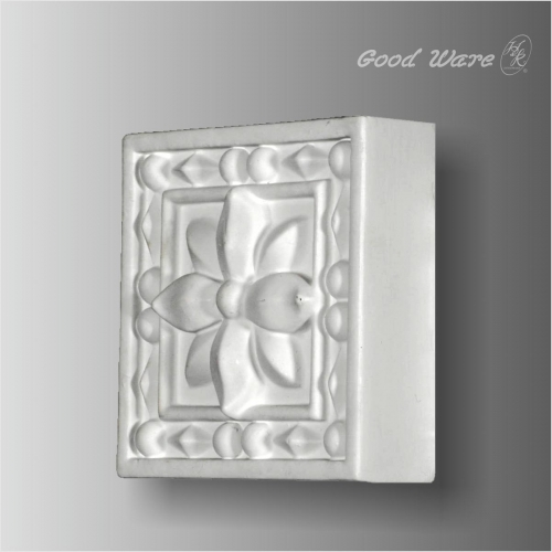 Decorative door trim molding corner blocks