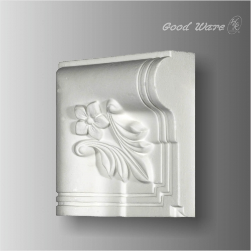 Polyurethane white door trim corner blocks