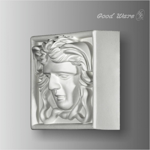 Decorative angel door molding trim corner blocks