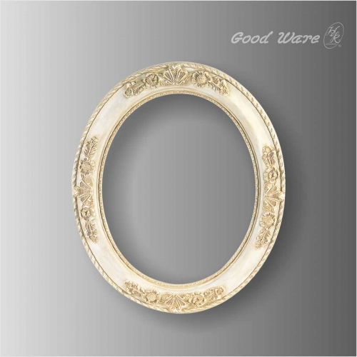 Polyurethane antique round small mirror frames