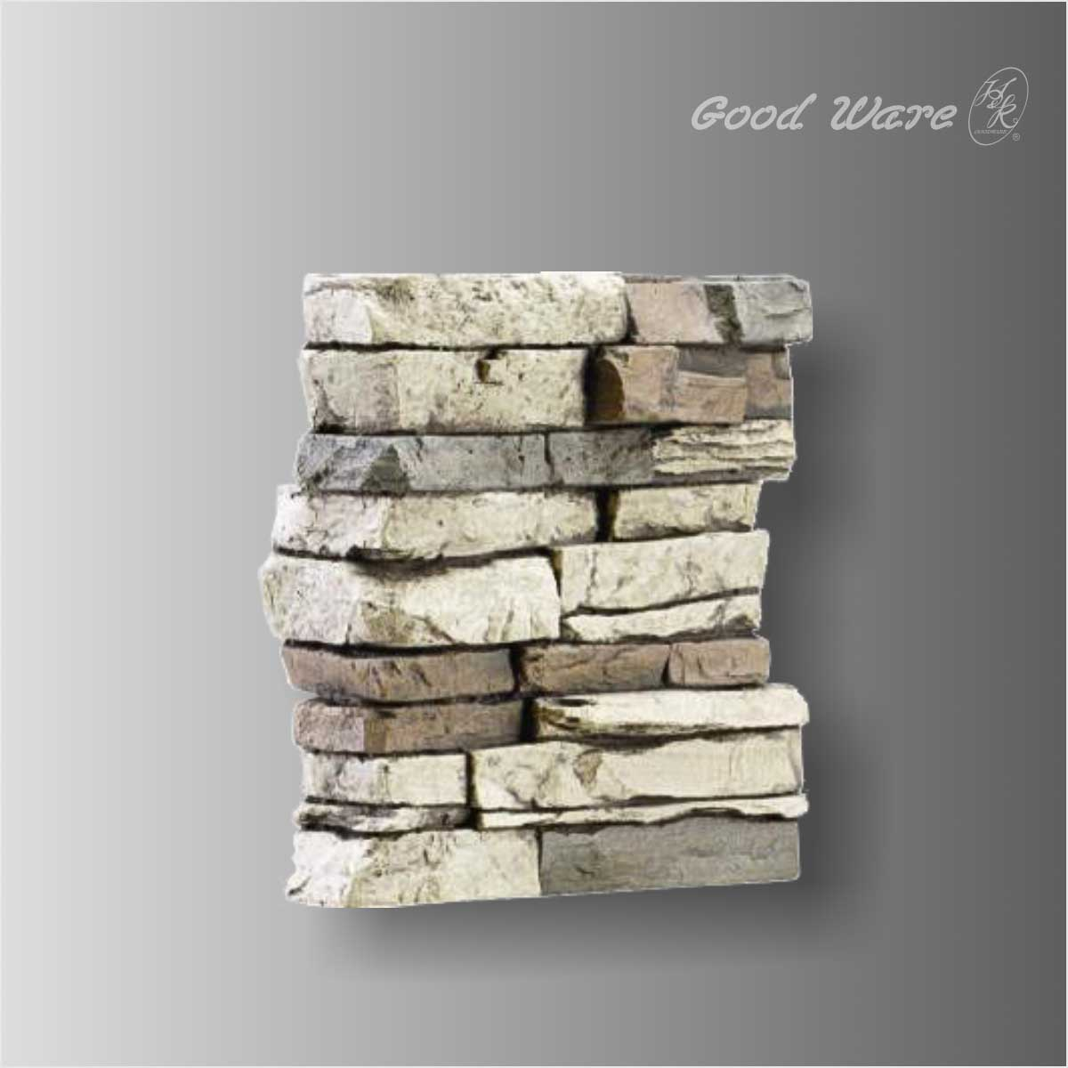Polyurethane faux stone wall panels for TV