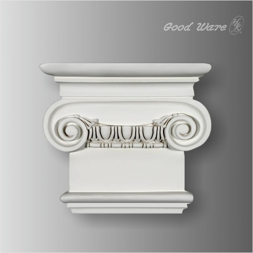 Egg and dart corner fireplace decor molding