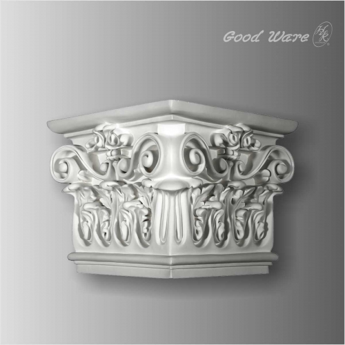 Polyurethane decorative corner fireplace decor