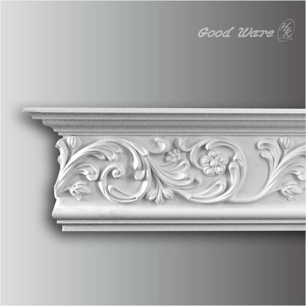 Decorative polyurethane crown molding for sale