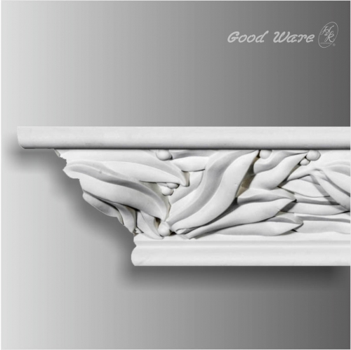Polyurethane leaf crown molding