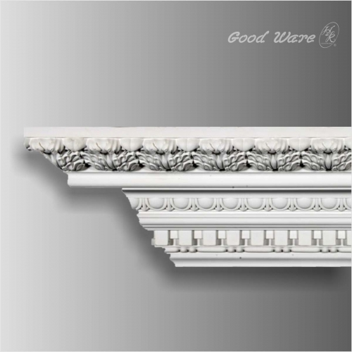 Baroque polyurethane crown dentil molding