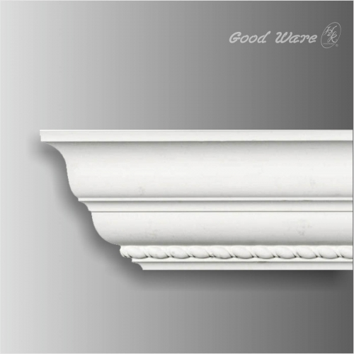 Classic crown molding with rope design