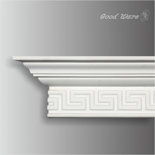 Polyurethane greek key crown molding supplier