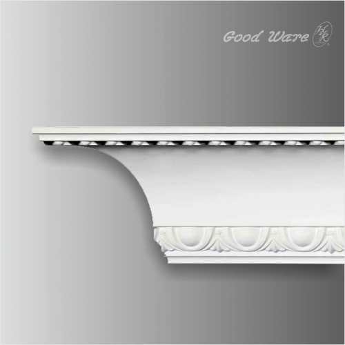 Polyurethane decorative beaded trim molding