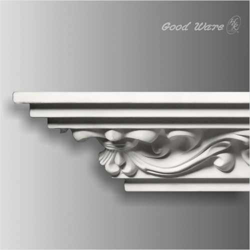 Polyurethane carved ceiling crown molding