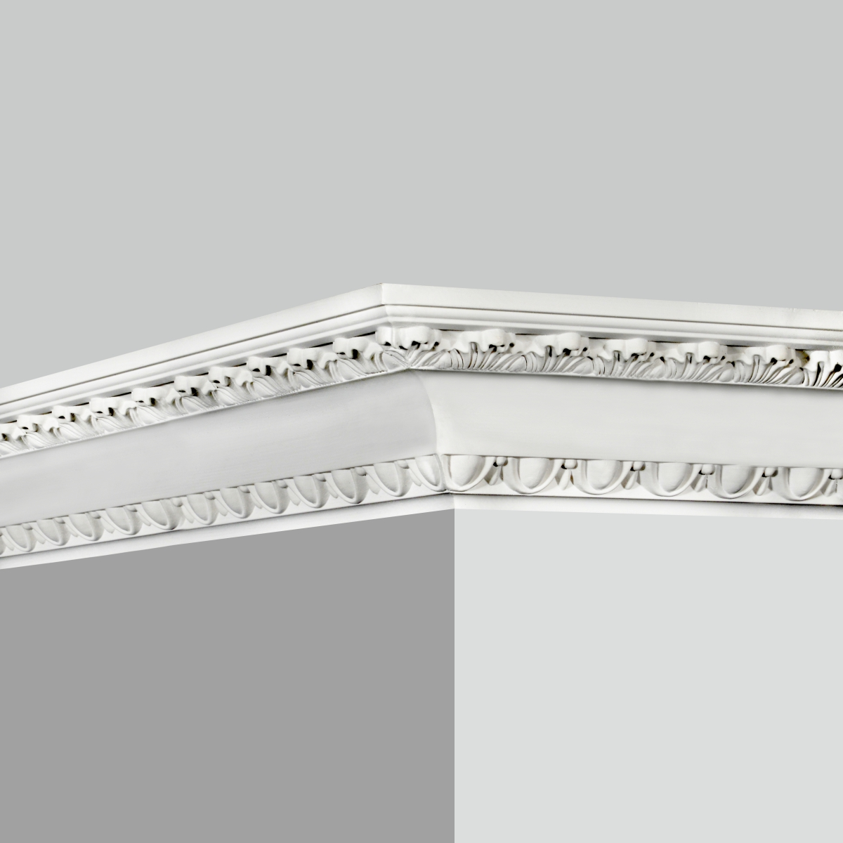 Baroque white crown molding for sale