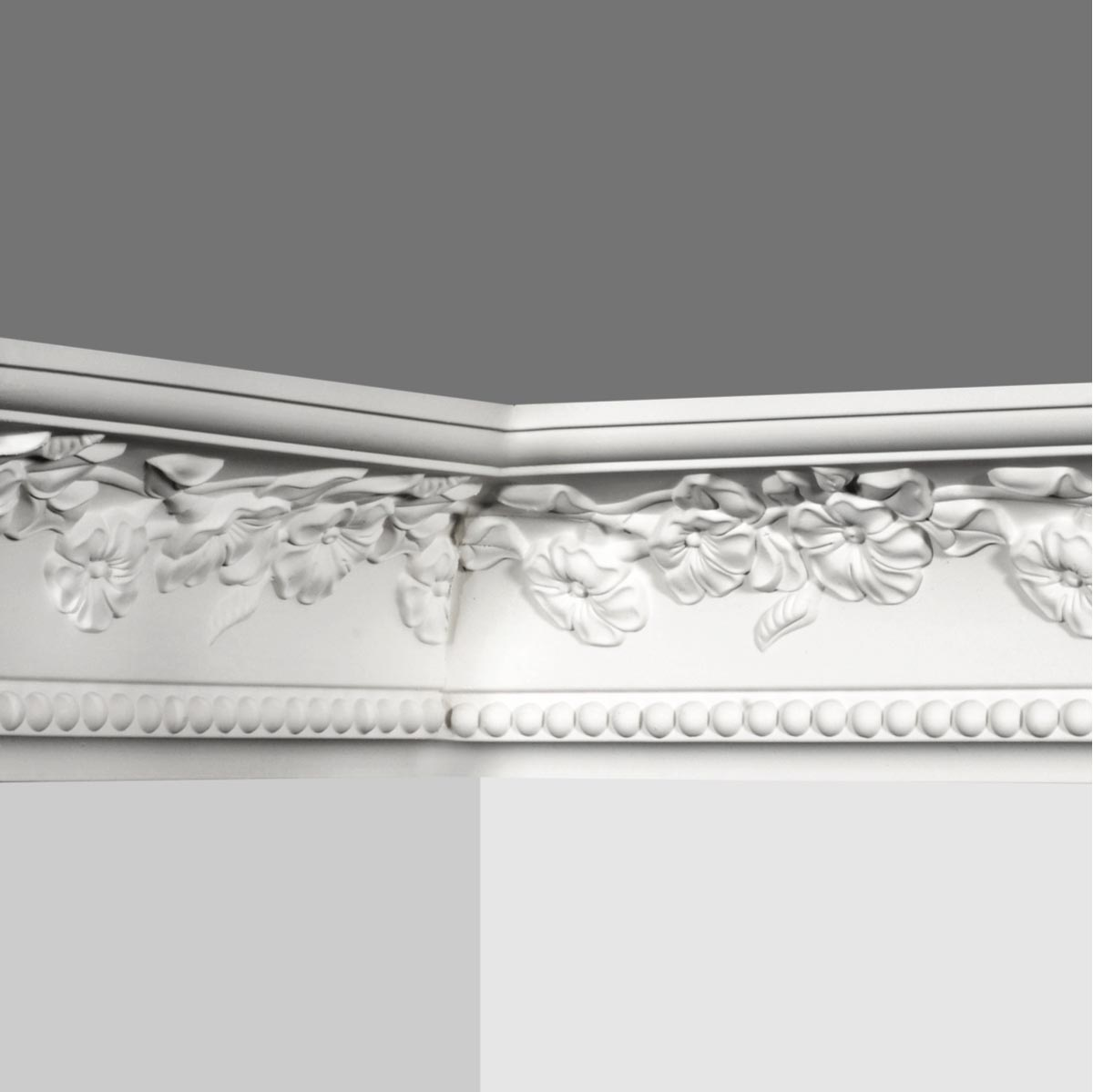 coved ceiling molding with rose design