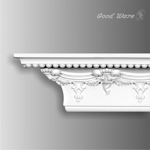Victorian crown molding with bead design