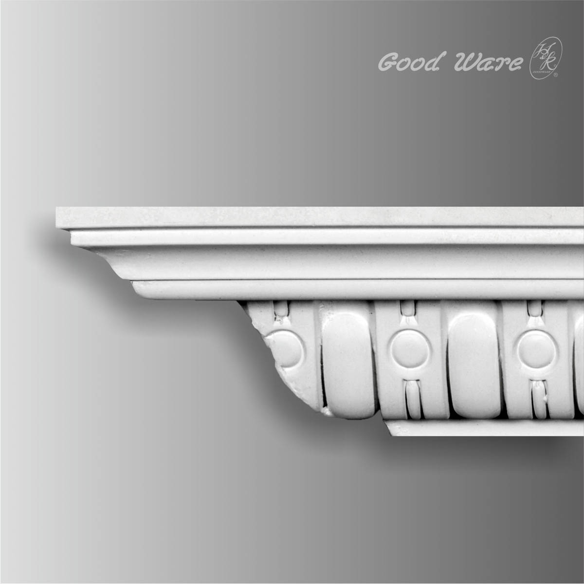 Polyurethane ornate crown molding
