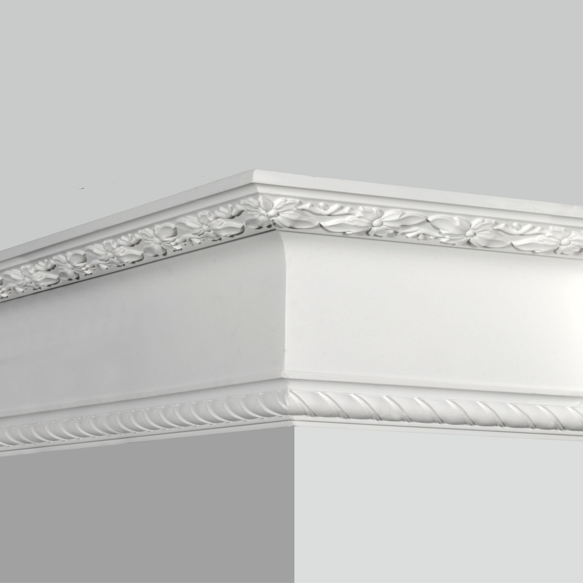 Polyurethane decorative rope crown molding for sale