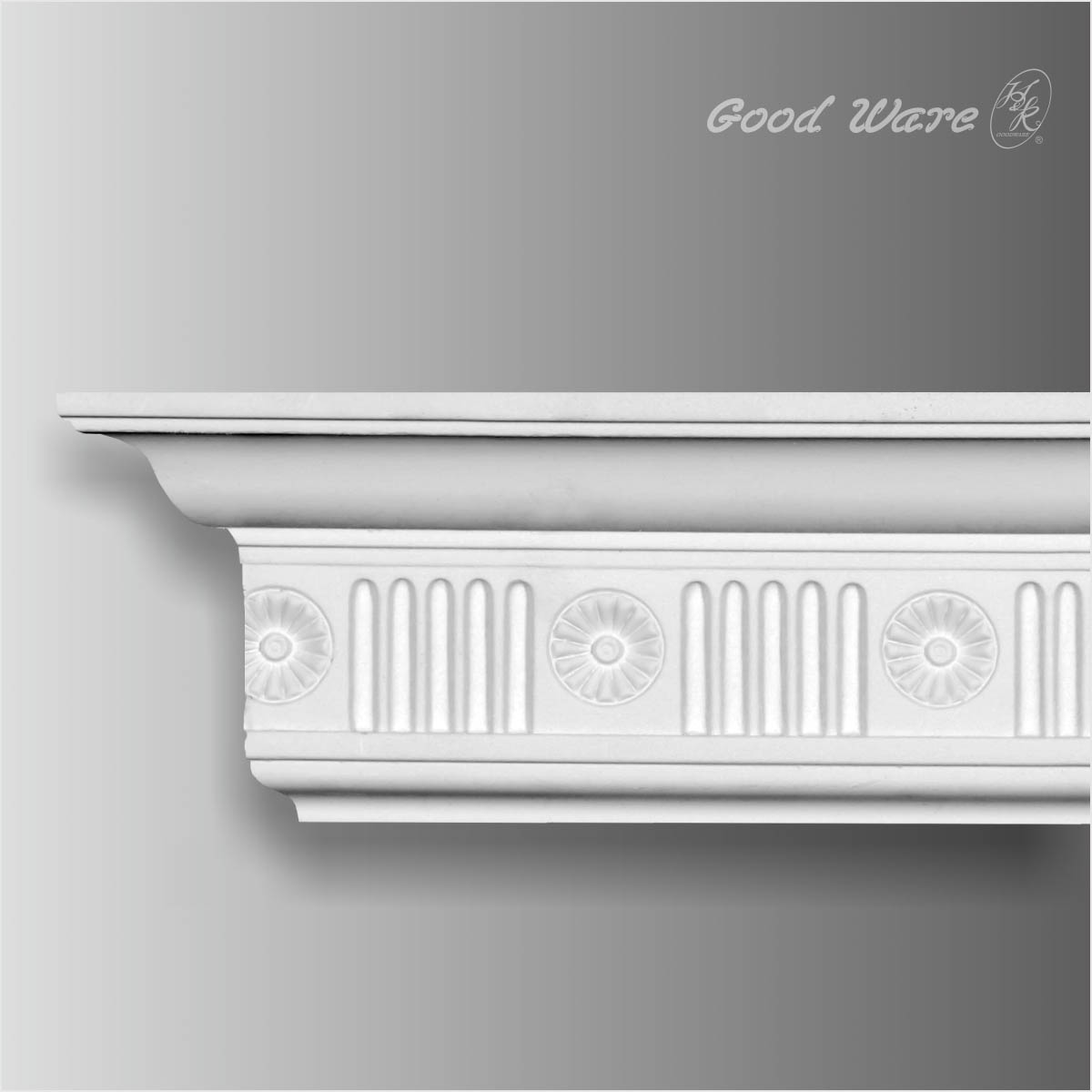 PU decorative fluted crown molding
