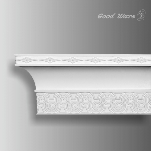 Decorative polyurethane cornice moulding