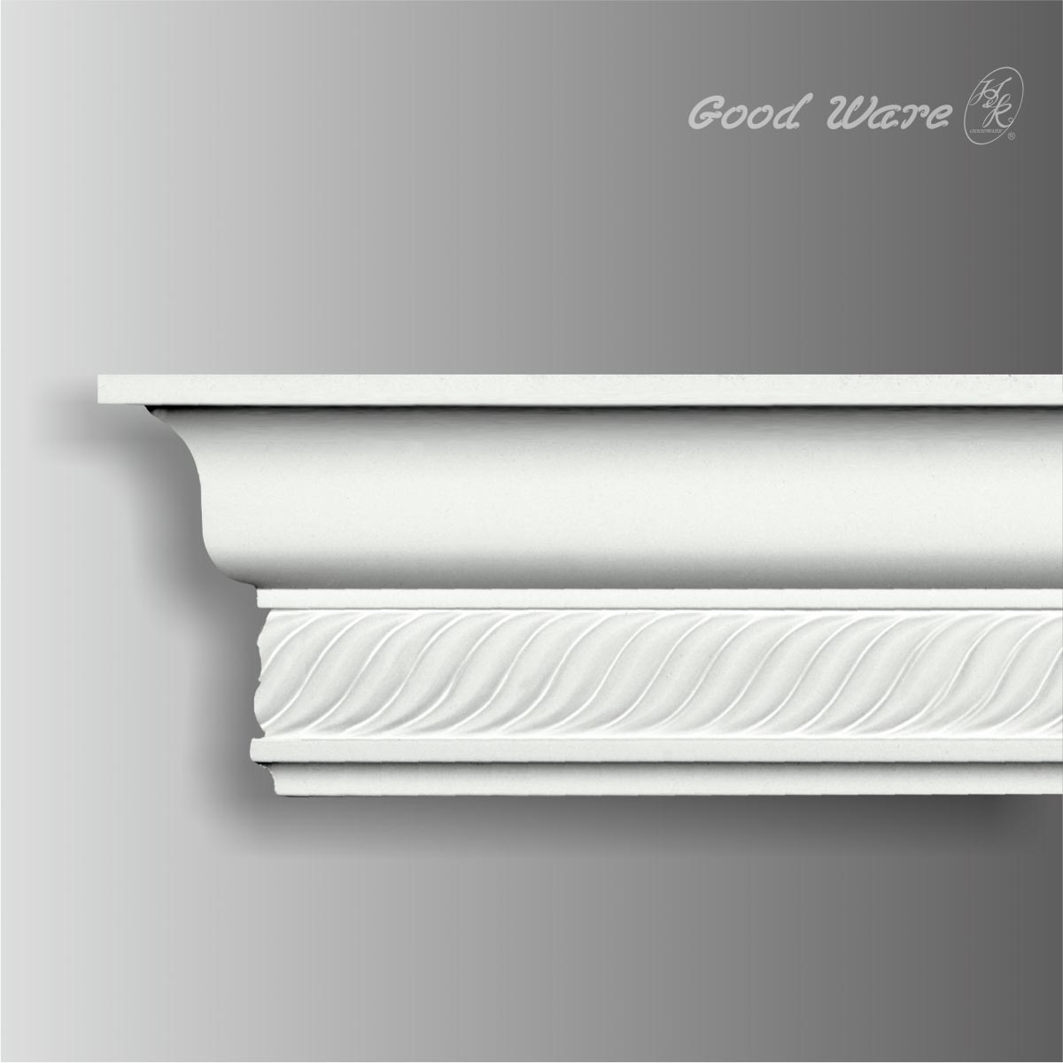 Polyurethane decorative rope molding