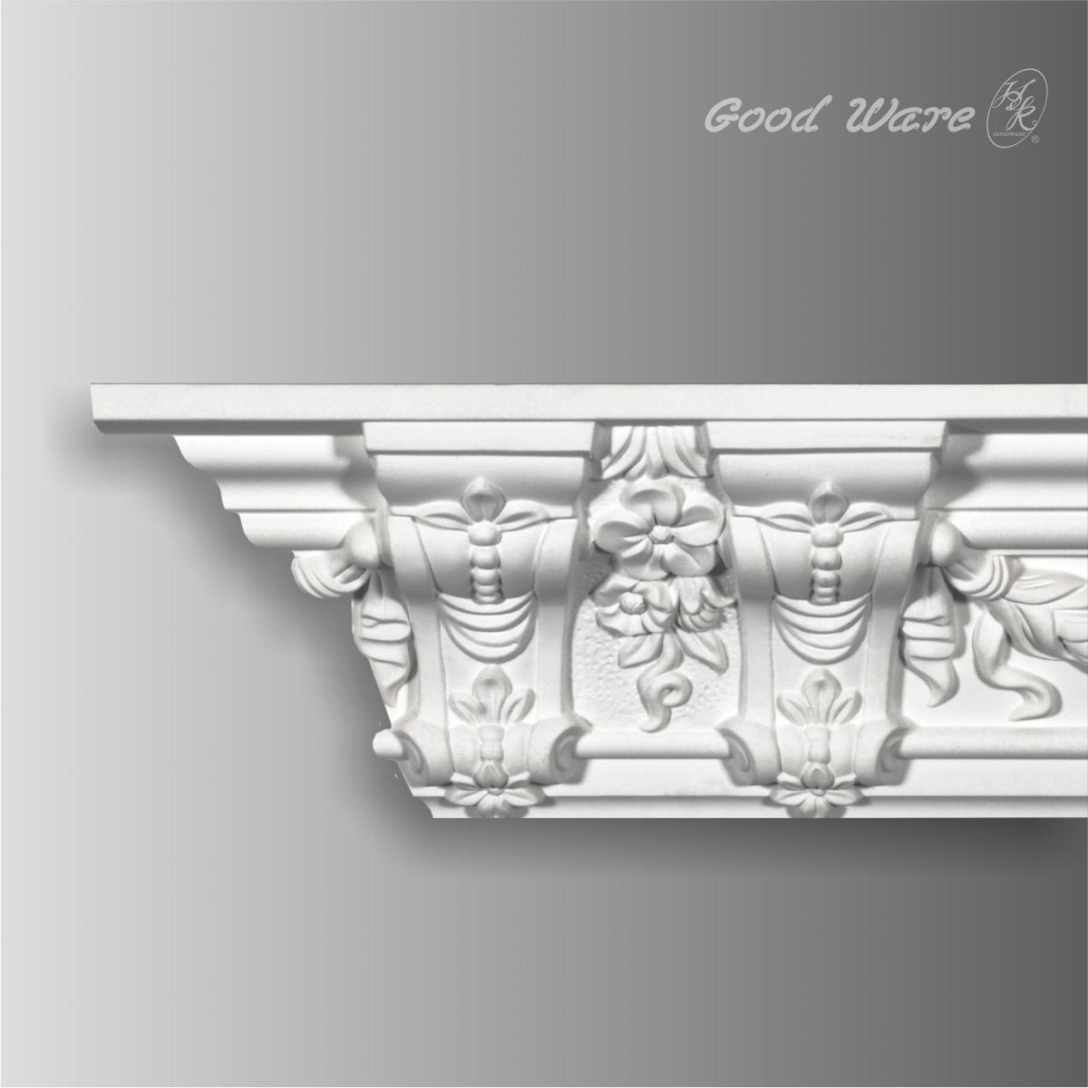 Polyurethane ornate trim molding for ceiling