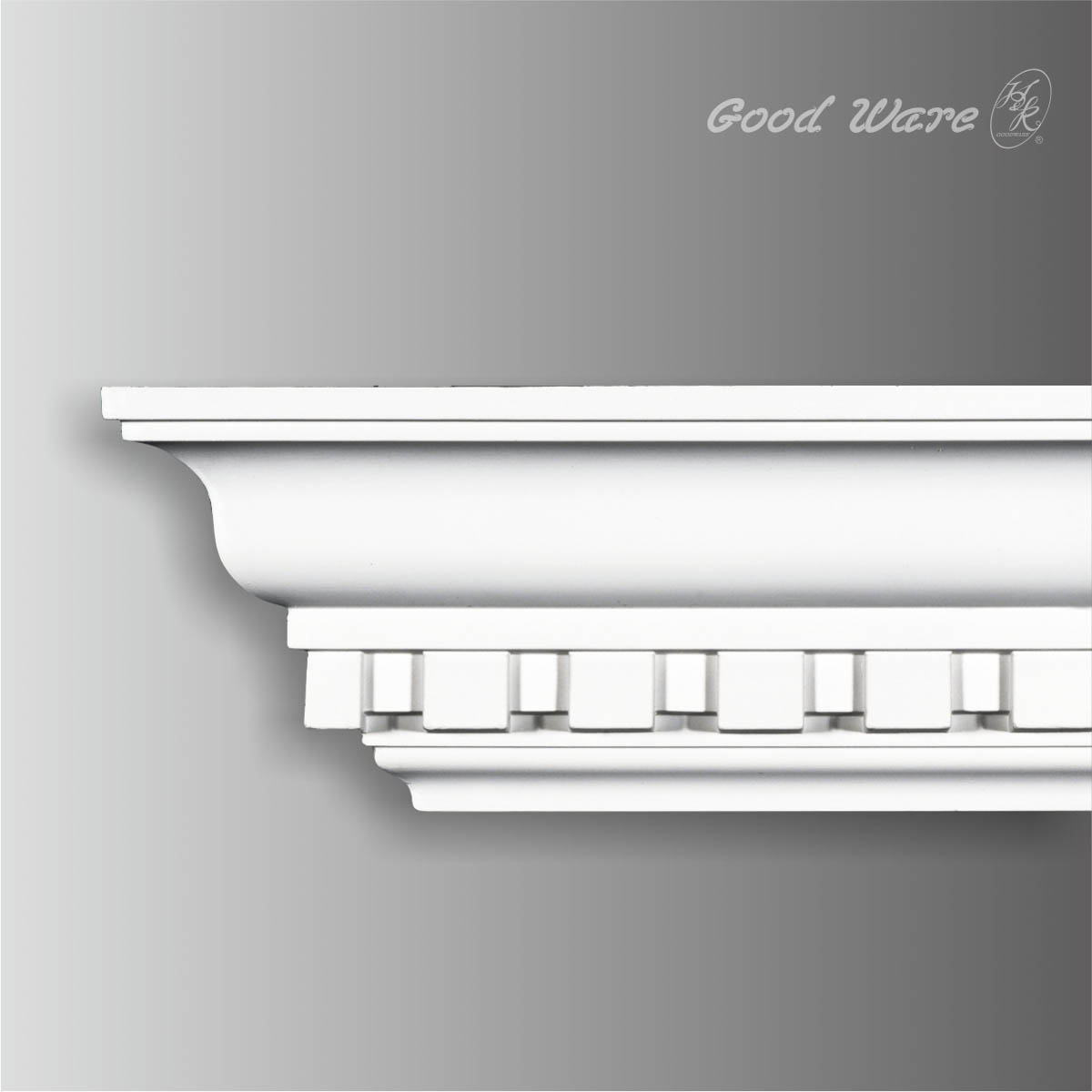Polyurethane decorative dentil molding