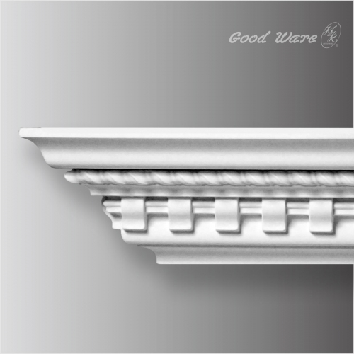 Decorative ceiling dentil cornice molding